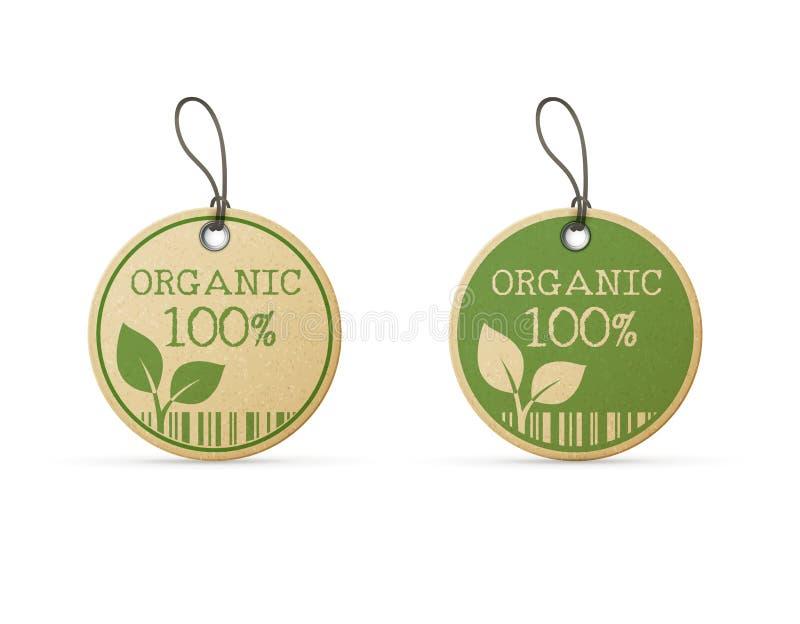 Sistema de dos etiquetas del eco stock de ilustración