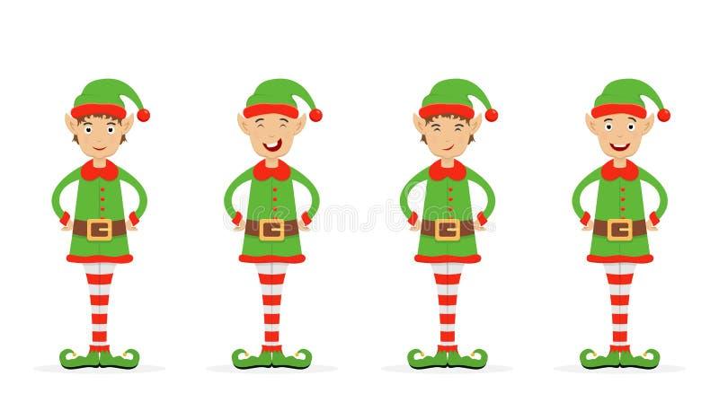 Sistema de duendes de la Navidad libre illustration