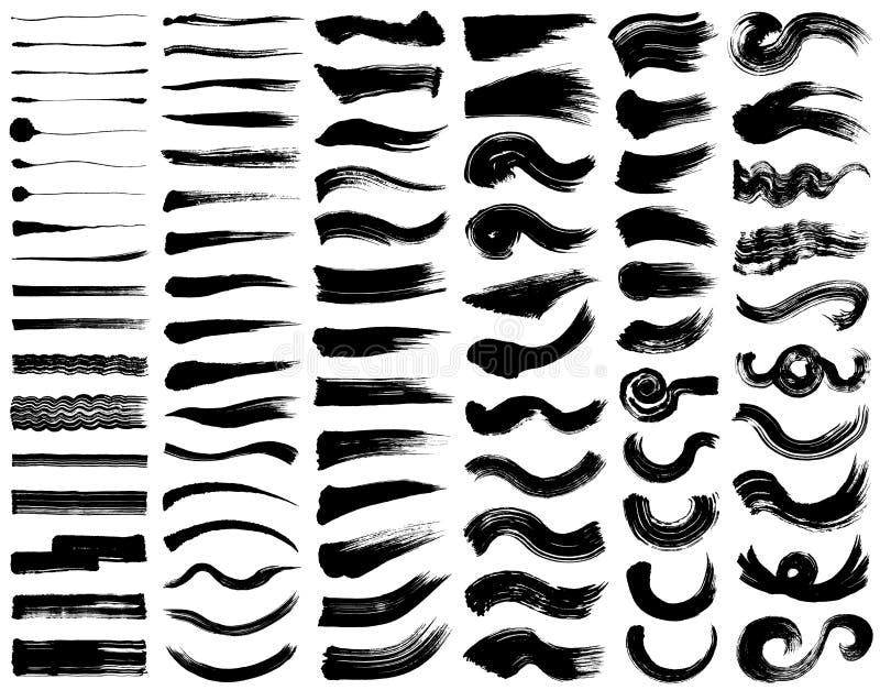 Sistema de ejemplos del movimiento del cepillo libre illustration