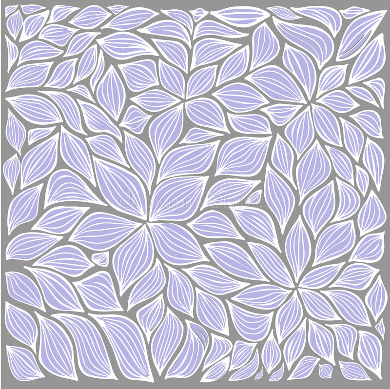 Sistema de elementos abstracto común de la hoja y de las flores desi del verano libre illustration