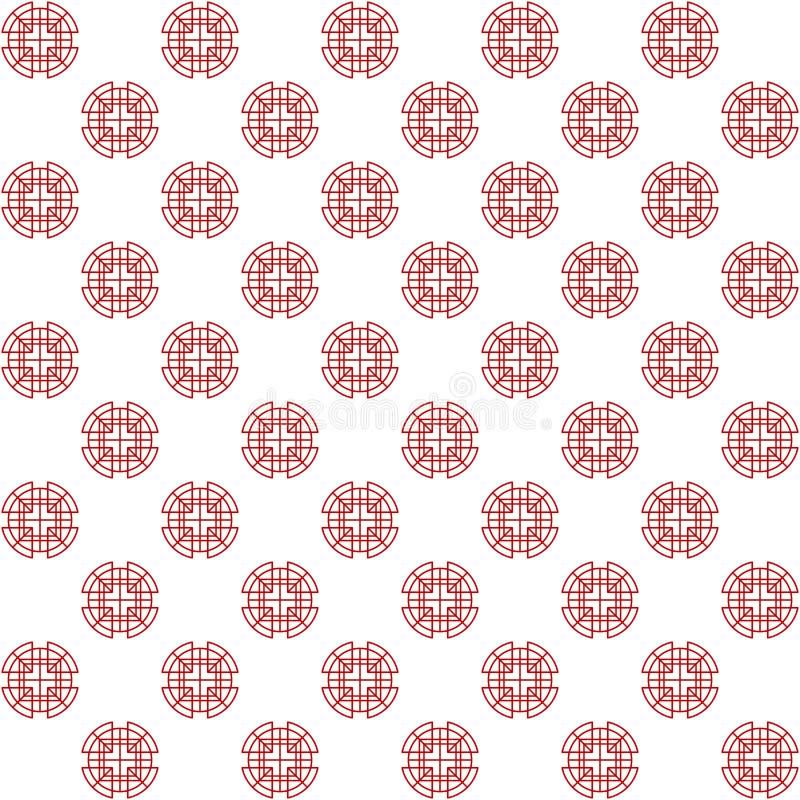 Sistema de elementos chino coreano japonés tradicional de la decoración de los modelos del asiático oriental, fondo en línea de l stock de ilustración