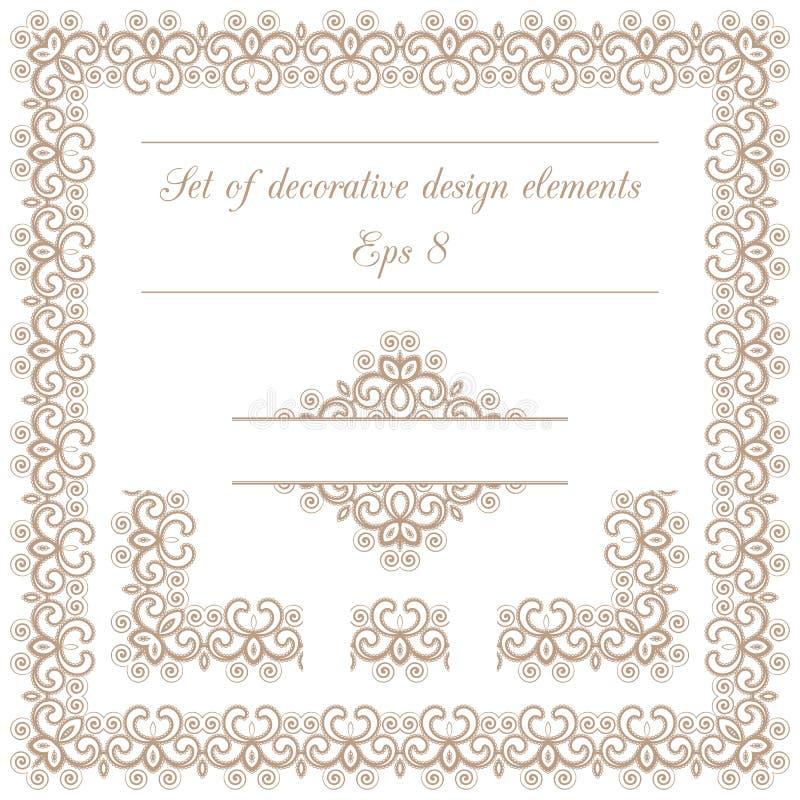 Sistema de elementos decorativos del diseño libre illustration