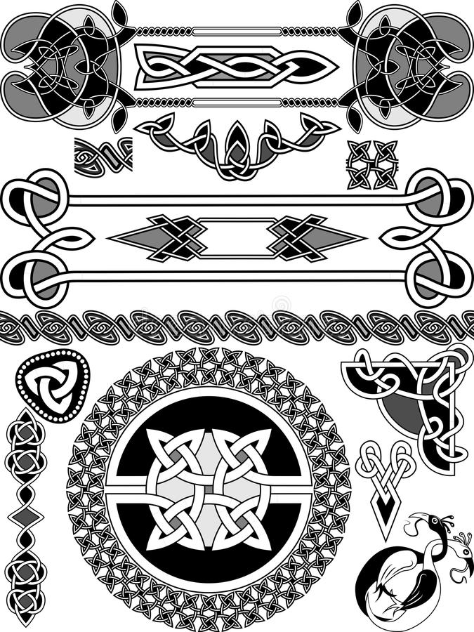 Sistema de elementos del diseño ilustración del vector
