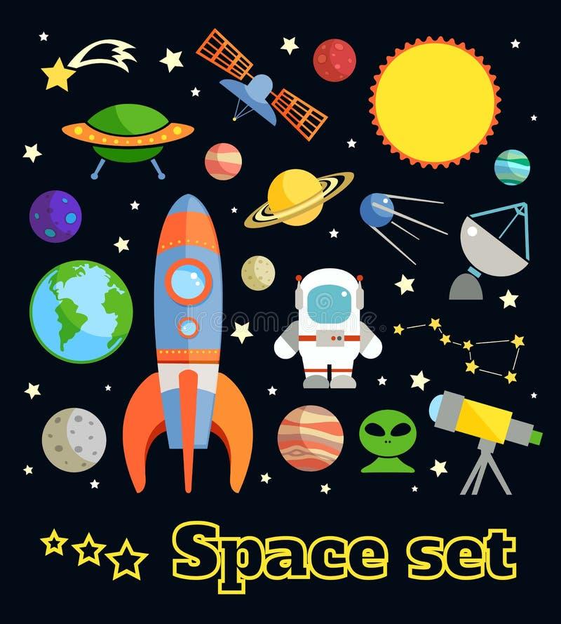 Sistema de elementos del espacio libre illustration