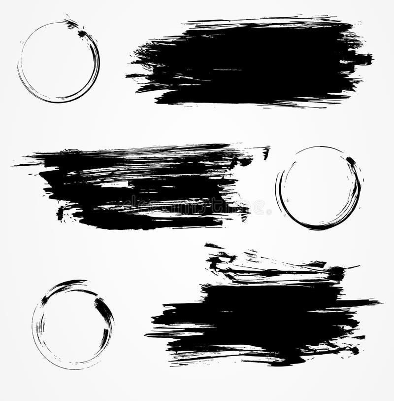 Sistema de elementos del Grunge stock de ilustración