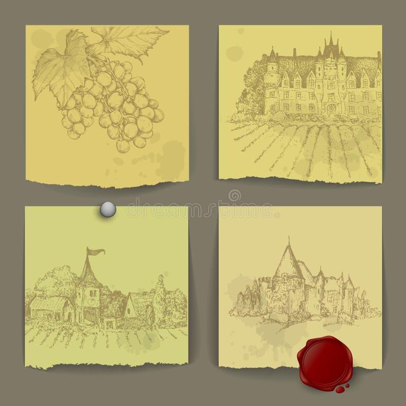 Download Sistema De Elementos Del Vino Ilustración del Vector - Ilustración de copa, cosecha: 44853170