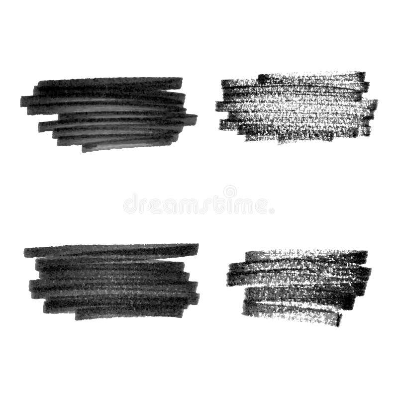 Sistema de elementos negro del grunge libre illustration