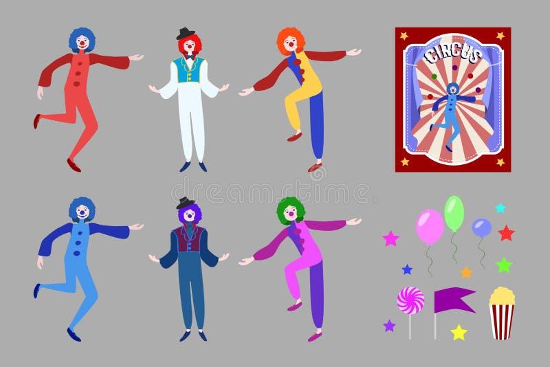 Sistema de elementos plano del circo libre illustration