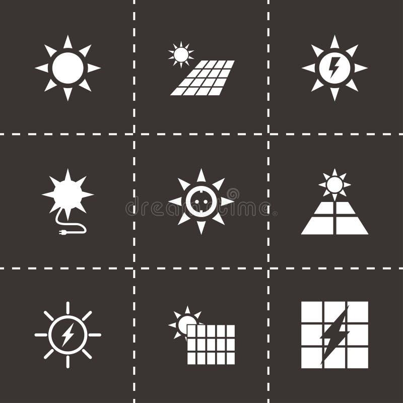 Sistema de energía solar del icono del vector libre illustration
