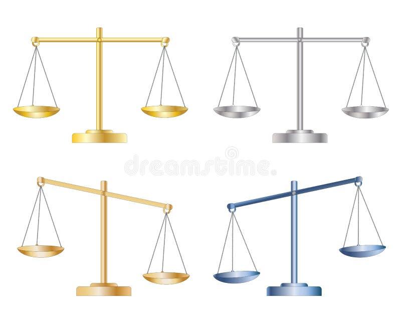 Sistema de escalas ilustración del vector