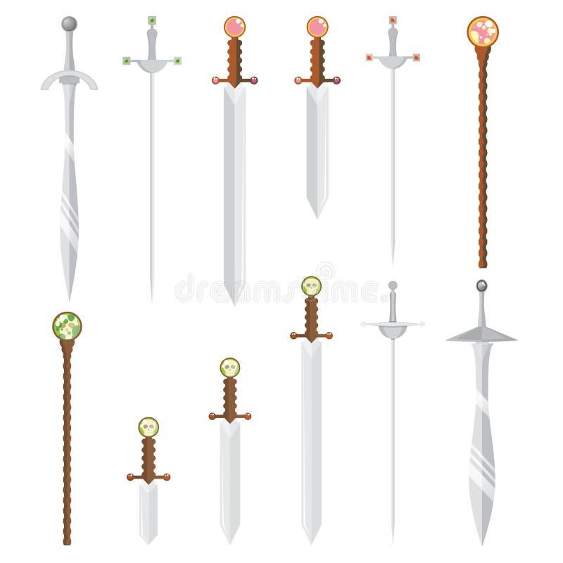 Sistema de espadas del estilo de la historieta libre illustration