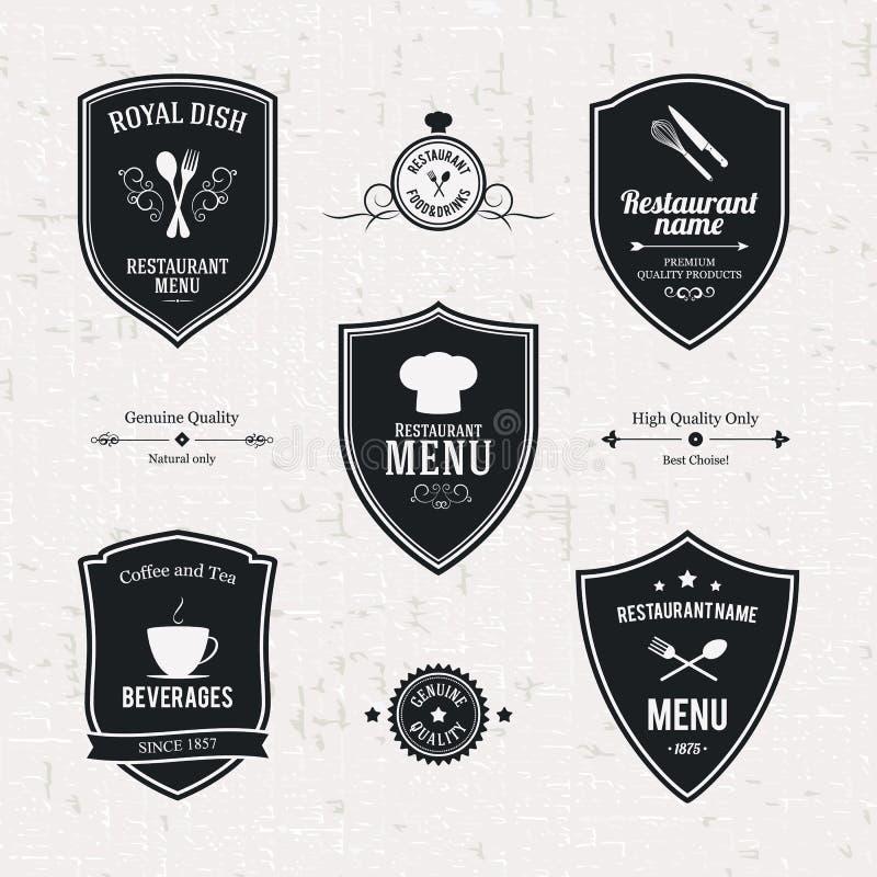 Sistema de etiqueta stock de ilustración