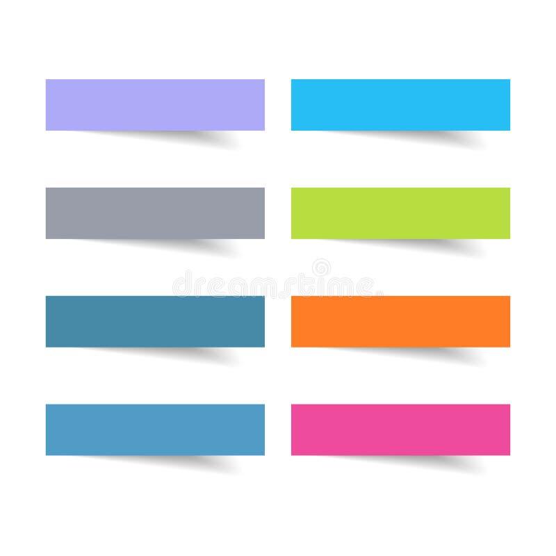 Sistema de etiqueta con el elemento a todo color del diseño del vector, ilustrador ilustración del vector