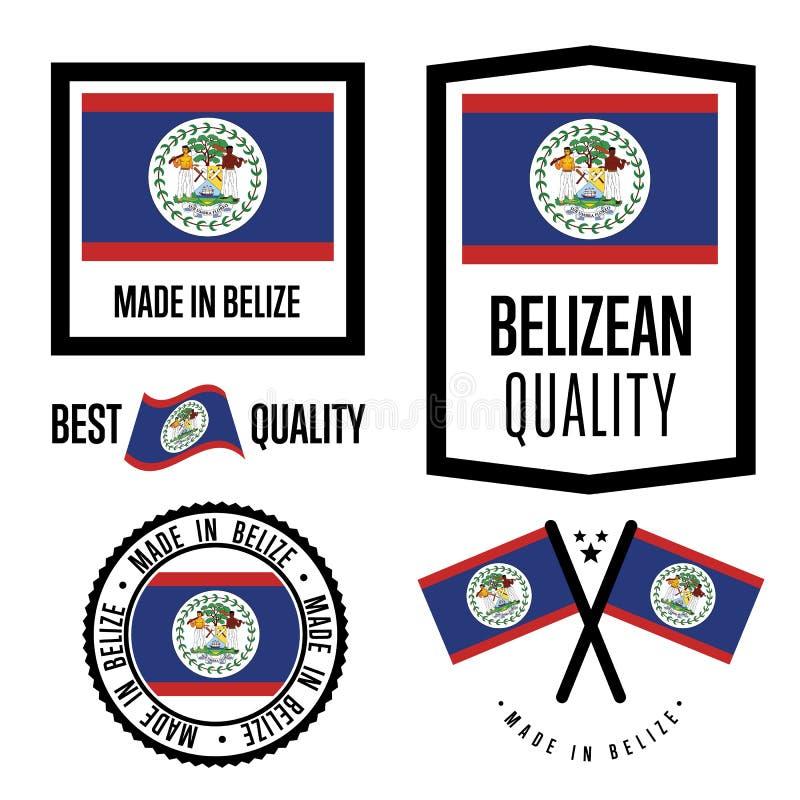 Sistema de etiqueta de la calidad de Belice para las mercancías stock de ilustración
