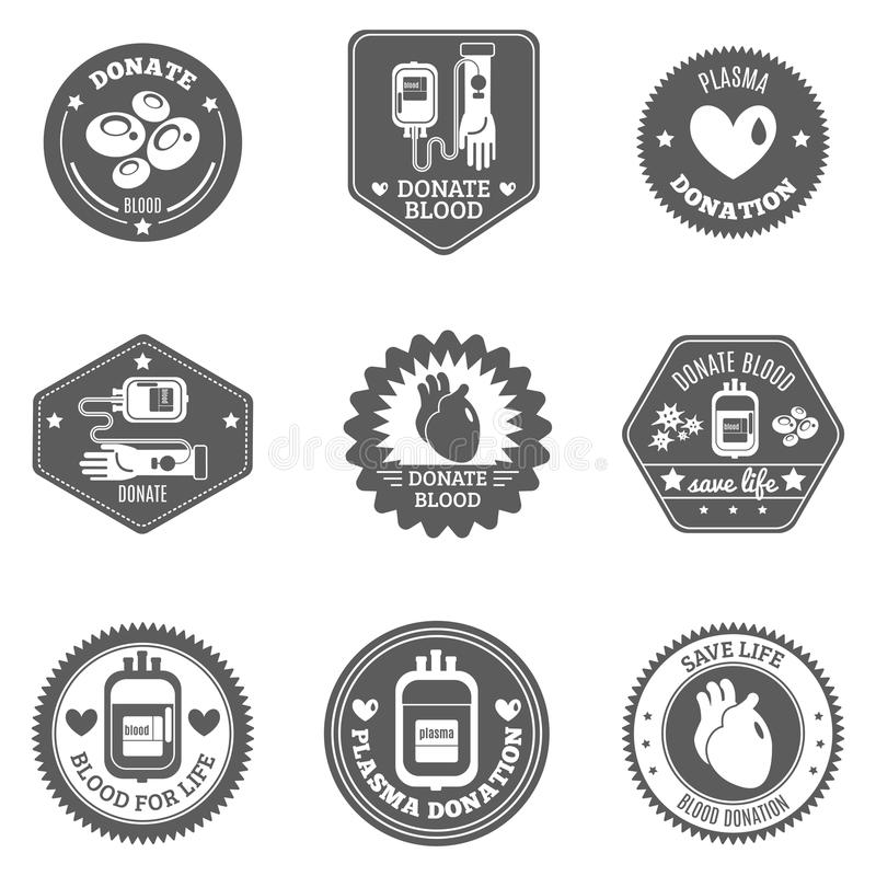 Sistema de etiqueta del donante de sangre libre illustration