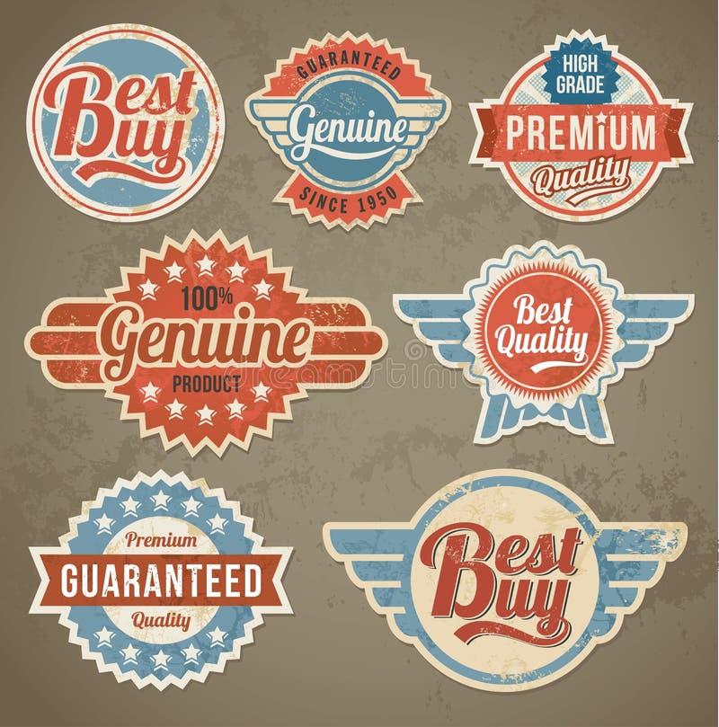 Sistema de etiqueta del vintage Fondos retros de la bandera del diseño del vector libre illustration