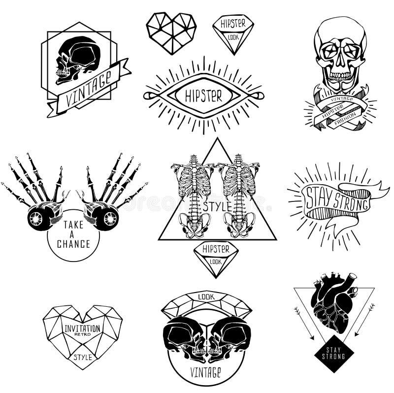 Sistema De Etiquetas Con El Ser Humano Ilustración del Vector ...