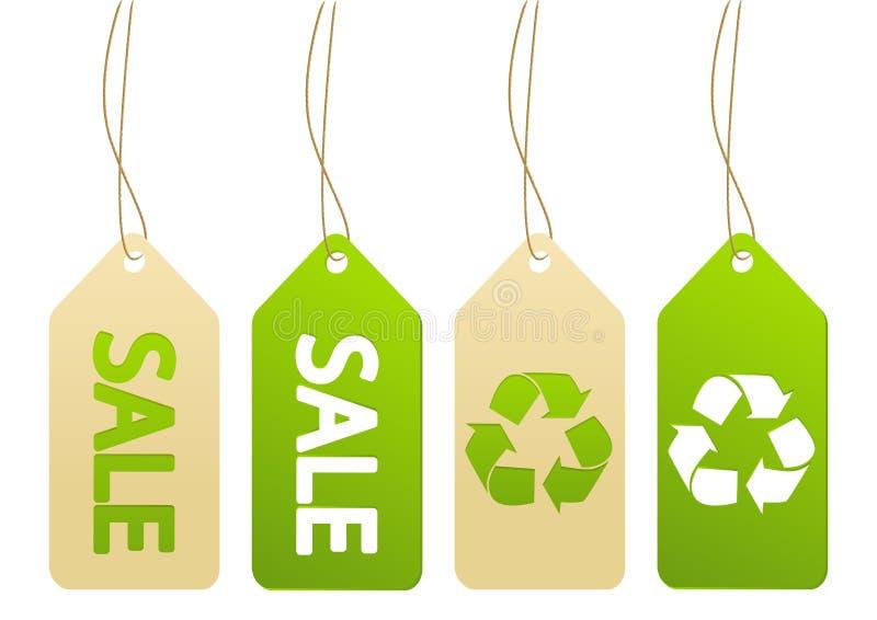Sistema de etiquetas de la ecología libre illustration