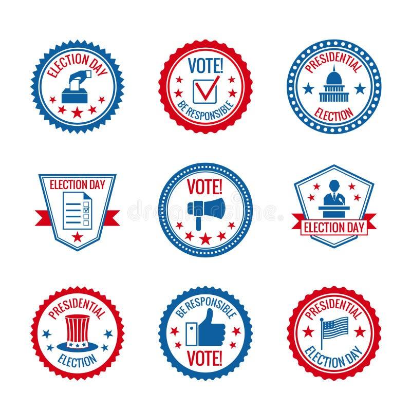 Sistema de etiquetas de las elecciones libre illustration