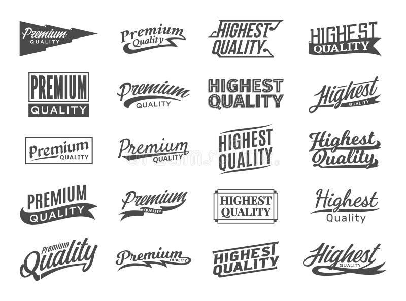 Sistema de etiquetas engomadas superiores y más de alta calidad del vector libre illustration
