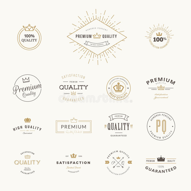 Sistema de etiquetas engomadas y de elementos superiores de la calidad stock de ilustración