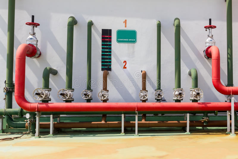 Sistema de extinção de incêndios da água para o sistema de alarme de incêndio imagem de stock royalty free