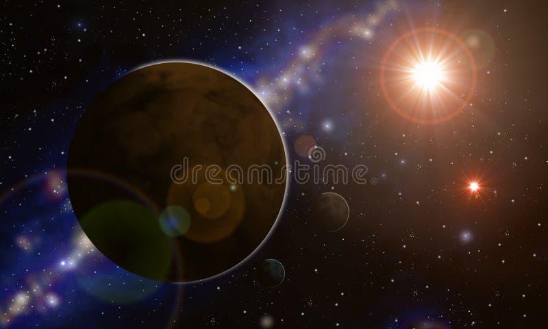 Sistema de Extrasolar ilustração stock