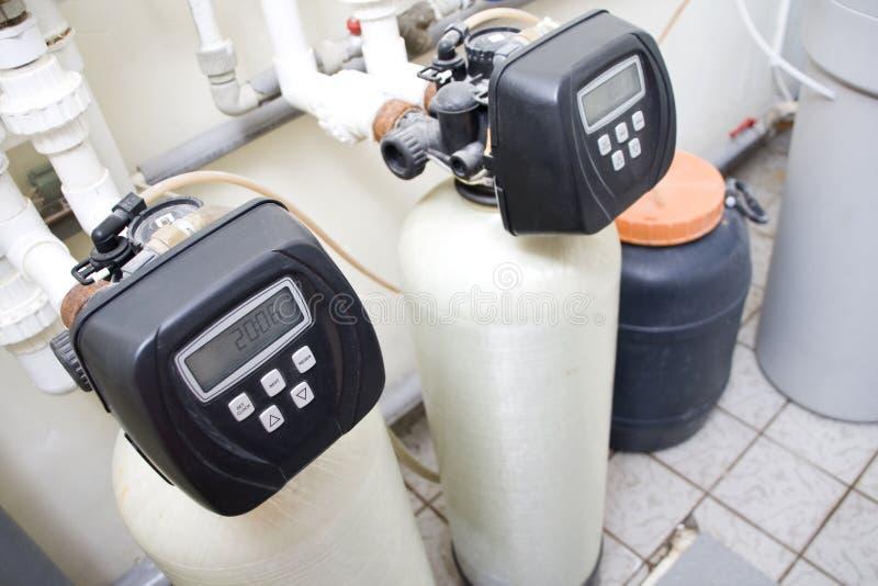 Sistema de filtración del agua fotos de archivo