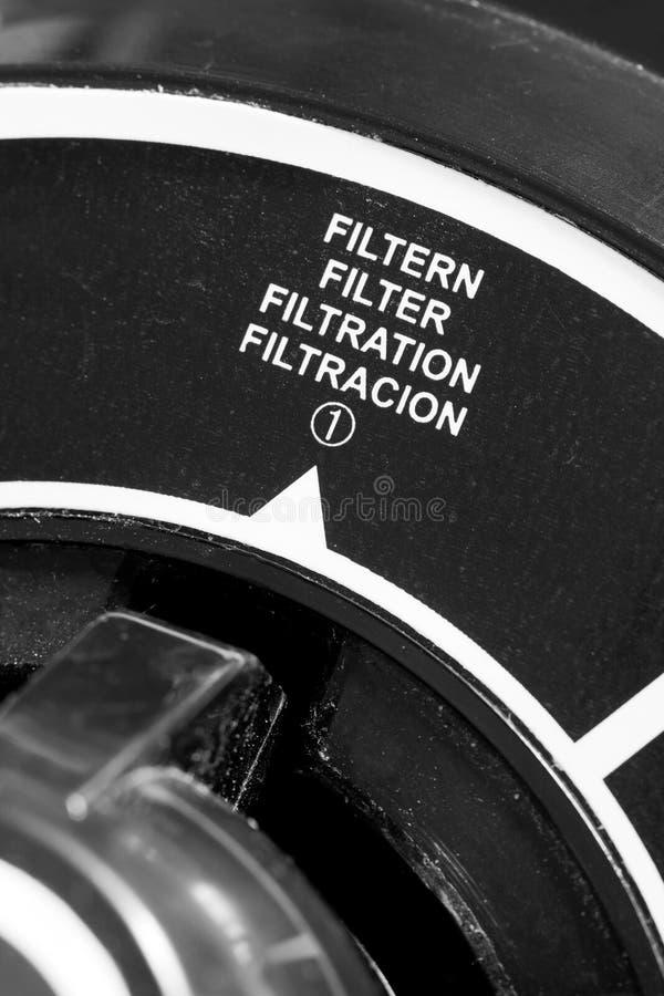 Sistema de filtración del agua fotografía de archivo libre de regalías