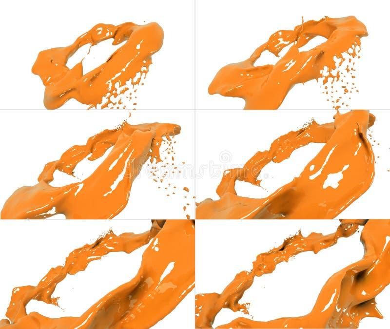 Sistema de flujo flúido que vuela libre illustration