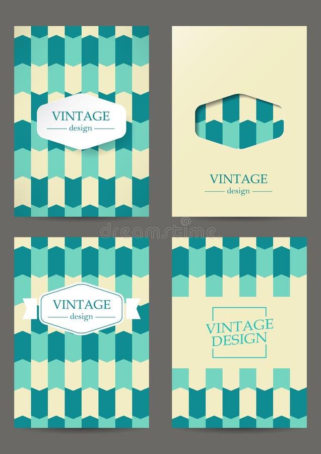 Sistema de folletos en diseño retro libre illustration
