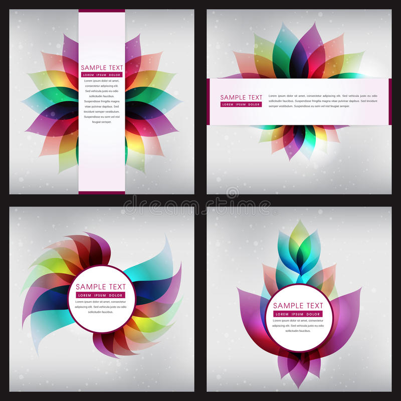 Sistema de fondo abstracto colorido de la composición fotografía de archivo libre de regalías