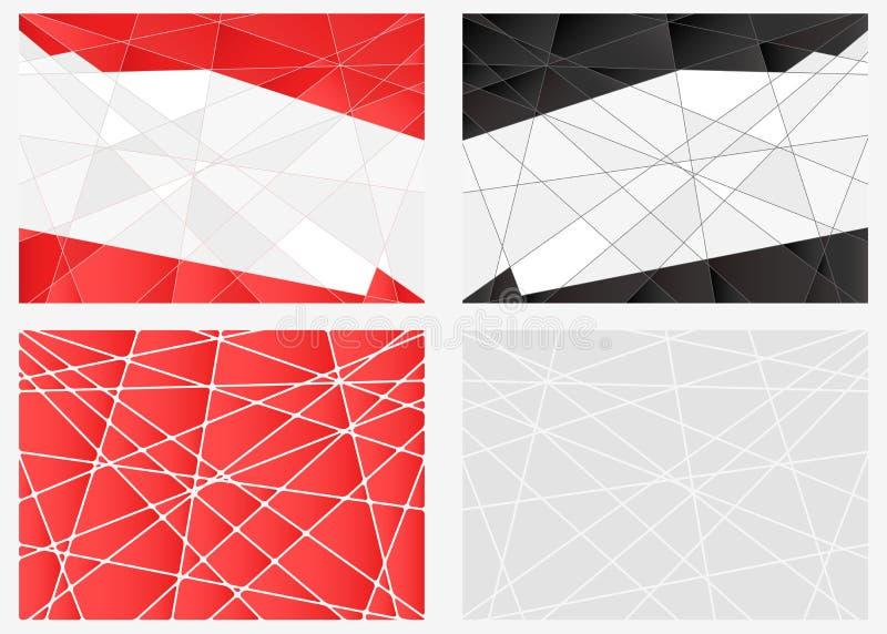 Sistema de fondo del polígono stock de ilustración