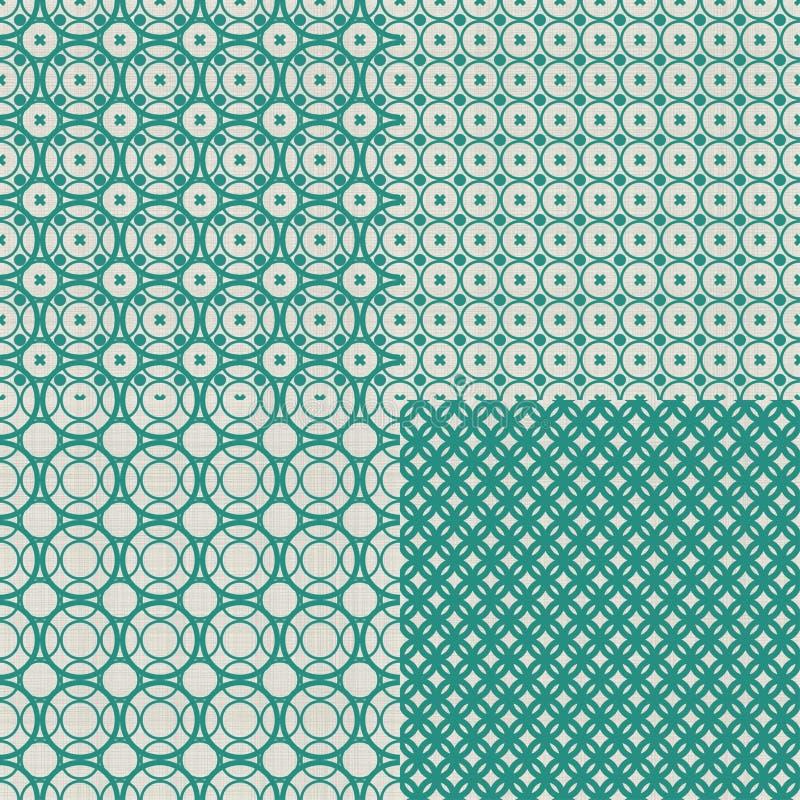 Sistema de fondo inconsútil abstracto retro con fabuloso stock de ilustración