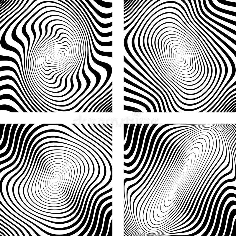 Sistema de fondo monocromático de la circular del giro del diseño ilustración del vector