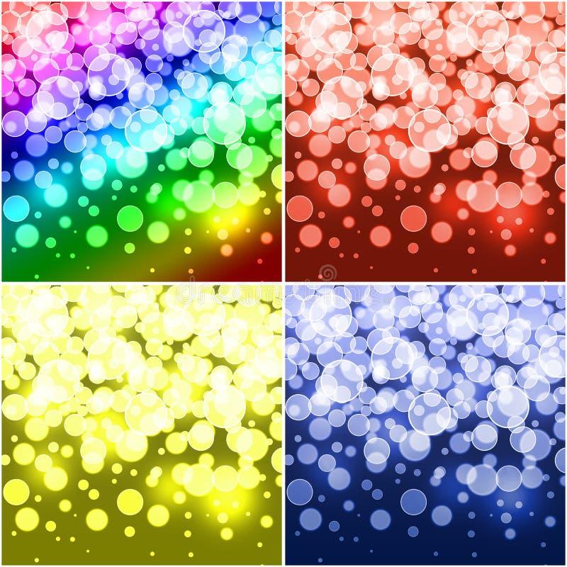 Sistema de fondos coloreados. imágenes de archivo libres de regalías
