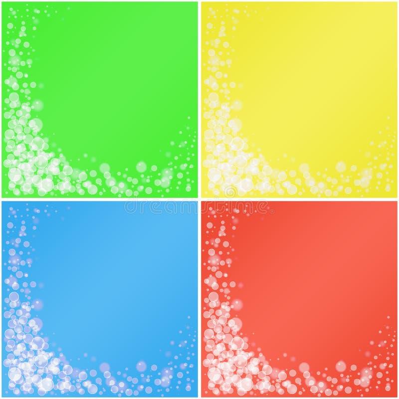Sistema de fondos coloreados. fotografía de archivo