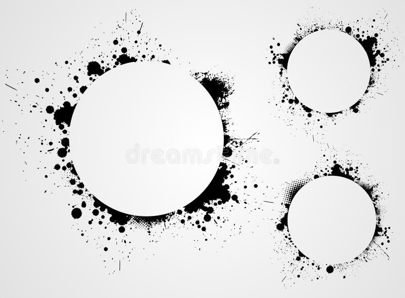 Sistema de fondos del grunge ilustración del vector