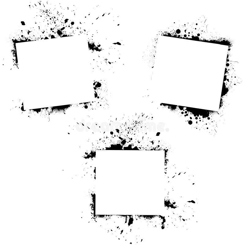 Sistema de fondos del grunge stock de ilustración
