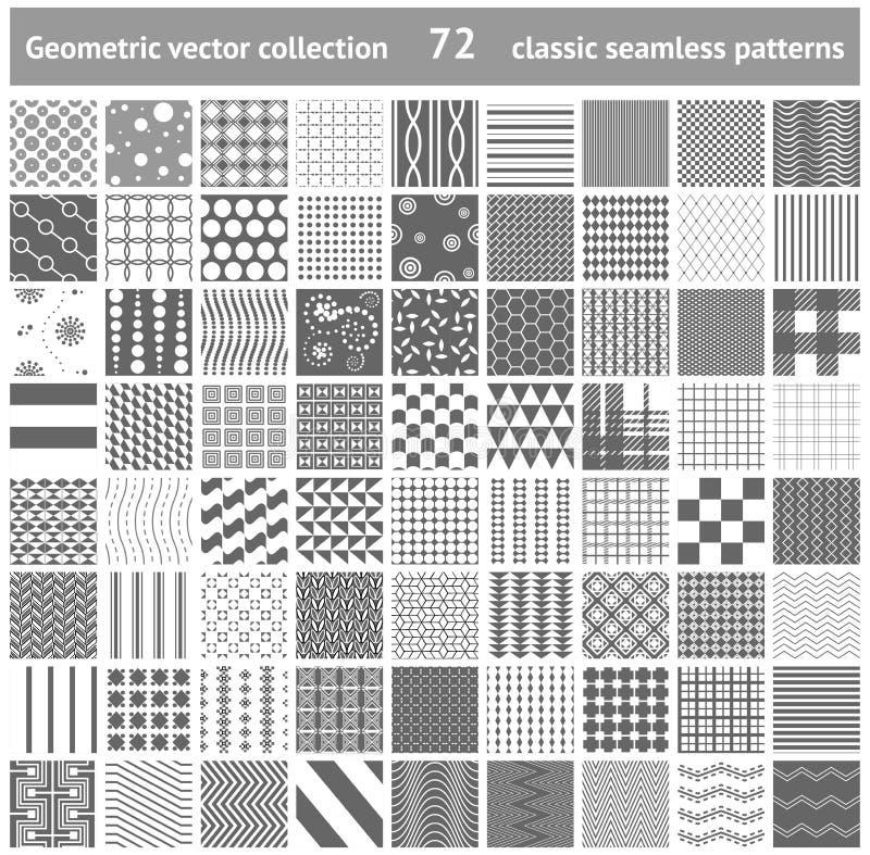 Sistema de 72 fondos inconsútiles geométricos de los modelos libre illustration