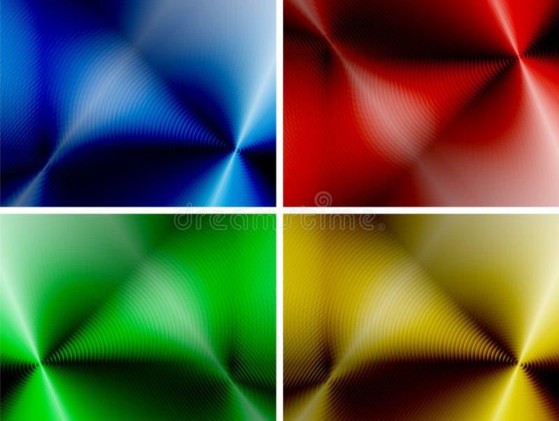 Sistema de fondos multicolores abstractos ilustración del vector