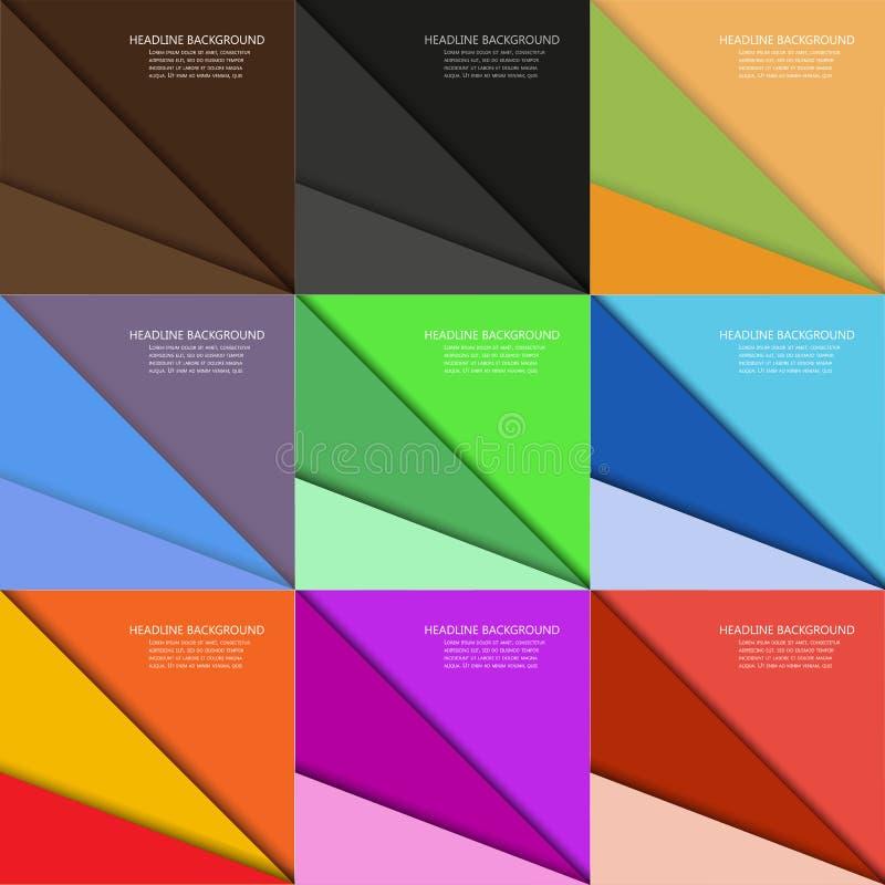 Sistema de fondos multicolores del vector hechos de elementos geométricos triangulares libre illustration