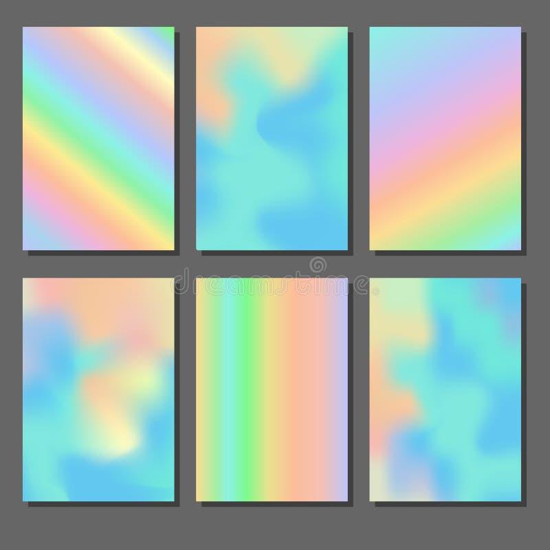 Sistema de fondos olográficos ilustración del vector