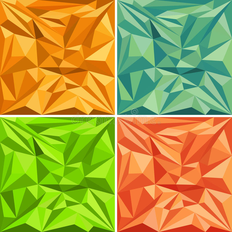 Sistema de fondos poligonales del modelo del vector libre illustration