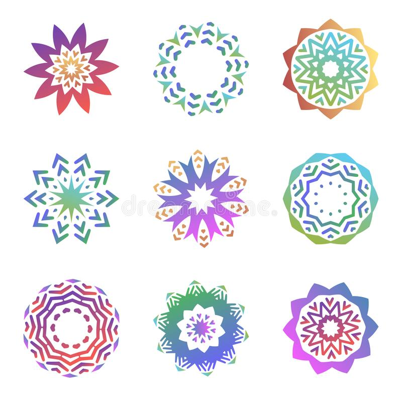 Sistema de formas de moda minimalistic Emblemas creativos del logotipo para el diseño Colección geométrica simple de los símbolos libre illustration