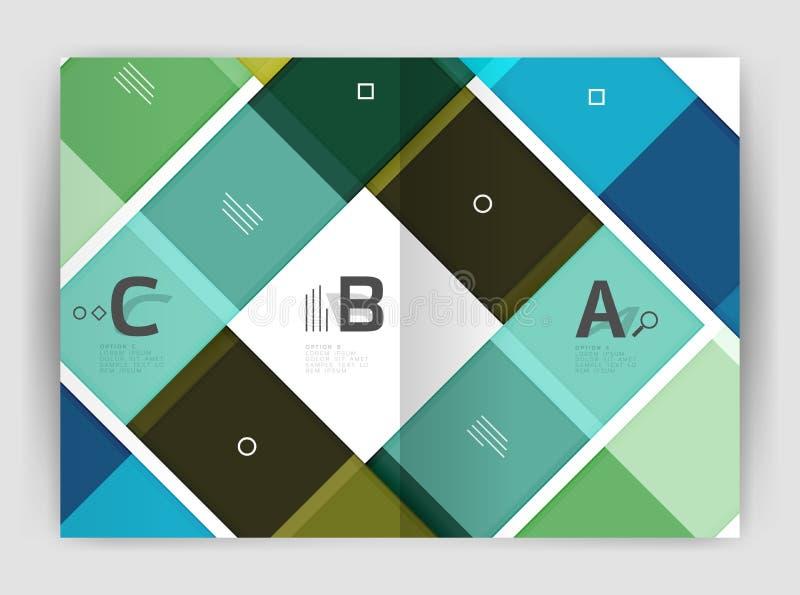 Sistema de frente y de las páginas traseras del tamaño a4, plantillas del diseño del informe anual del negocio fotos de archivo libres de regalías