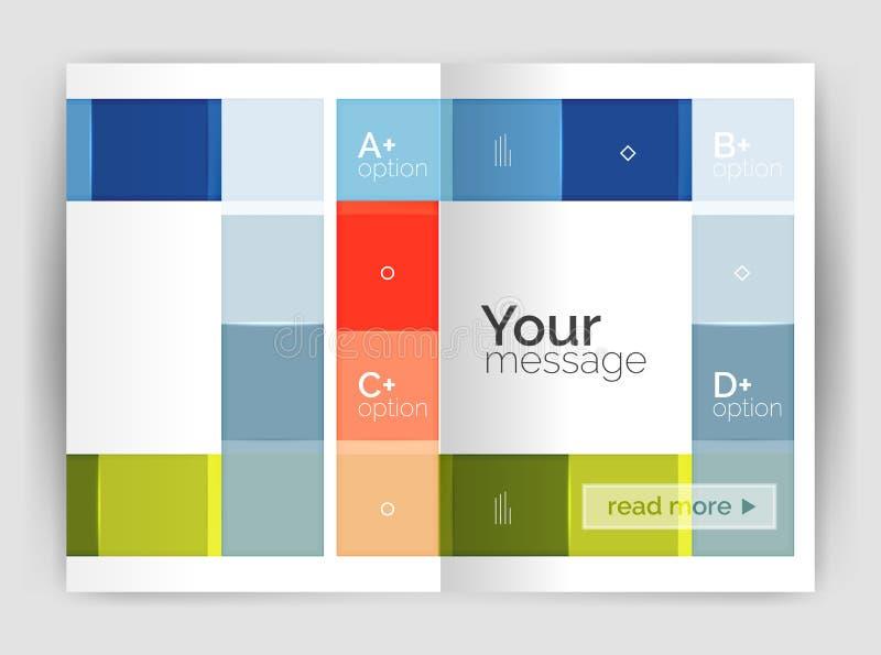 Sistema de frente y de las páginas traseras del tamaño a4, plantillas del diseño del informe anual del negocio ilustración del vector