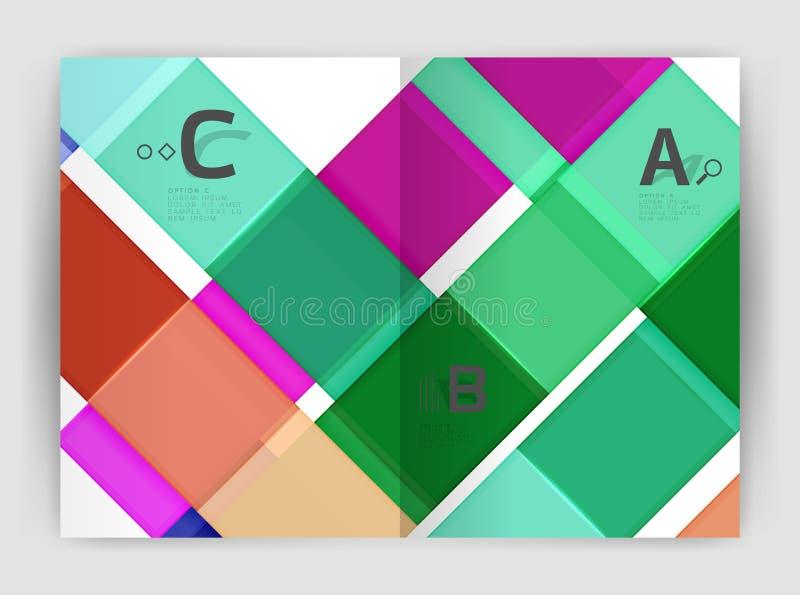 Sistema de frente y de las páginas traseras del tamaño a4, plantillas del diseño del informe anual del negocio libre illustration