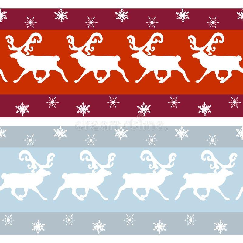 Sistema de fronteras de la Navidad del vintage ilustración del vector