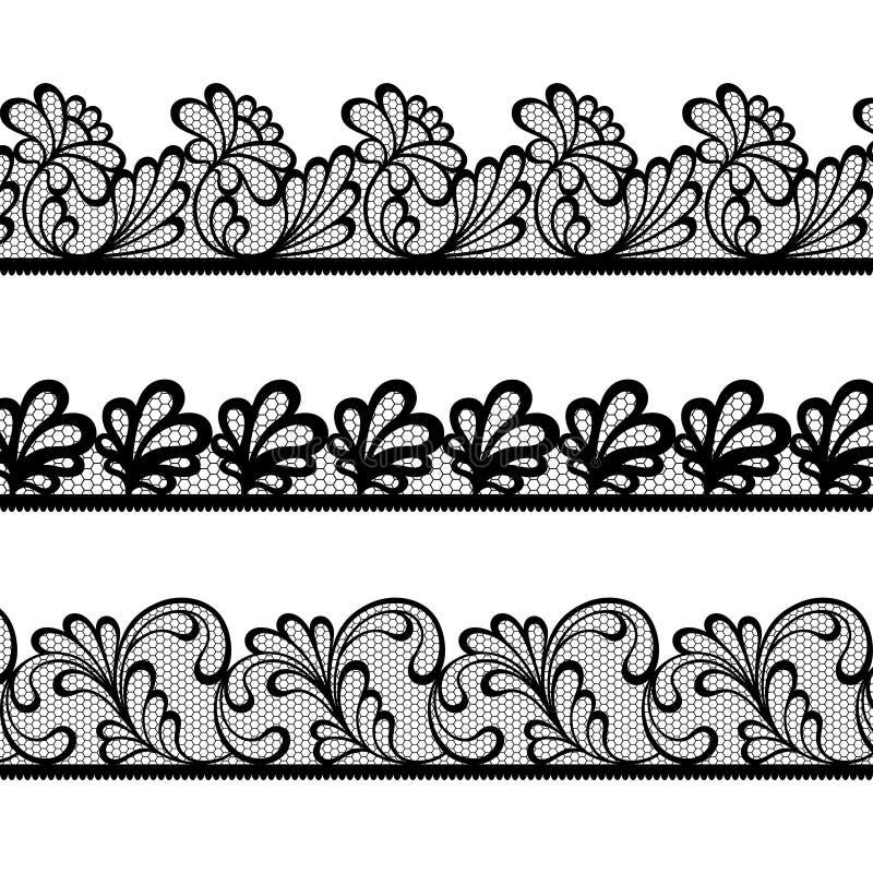 Sistema de fronteras del vector del cordón ilustración del vector